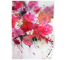 romantic pink roses Poster