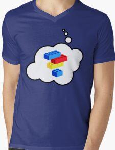 Bricks by Bubble-Tees.com Mens V-Neck T-Shirt