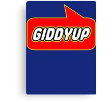 Giddyup, Bubble-Tees.com Canvas Print