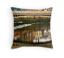 Town Bridge Throw Pillow