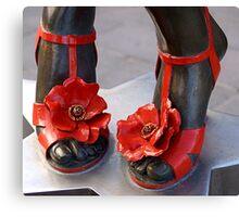 Kylie's stiletto sandals Canvas Print