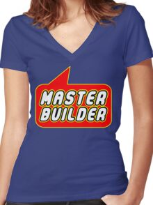Master Builder, Bubble-Tees.com Women's Fitted V-Neck T-Shirt