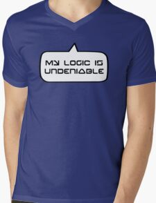 MY LOGIC IS UNDENIABLE by Bubble-Tees.com Mens V-Neck T-Shirt