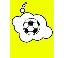 Soccer Ball by Bubble-Tees.com Photographic Print