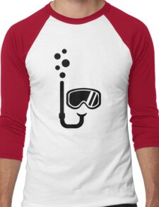 Snorkel goggles bubbles Men's Baseball ¾ T-Shirt