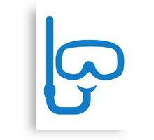 Snorkel diving goggles Canvas Print