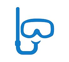 Snorkel diving goggles Photographic Print