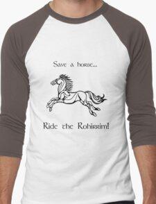 Save a horse... Ride the Rohirrim! - Black Men's Baseball ¾ T-Shirt