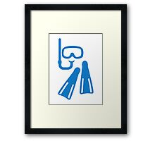 Snorkeling equipment Framed Print