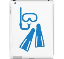 Snorkeling equipment iPad Case/Skin
