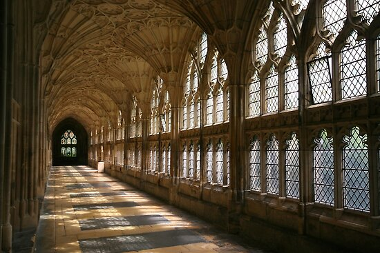 Cloister Shadows, Gloucester Cathedral by John Dalkin