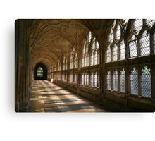 Cloister Shadows, Gloucester Cathedral Canvas Print