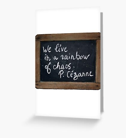 Cézanne's Quote Greeting Card