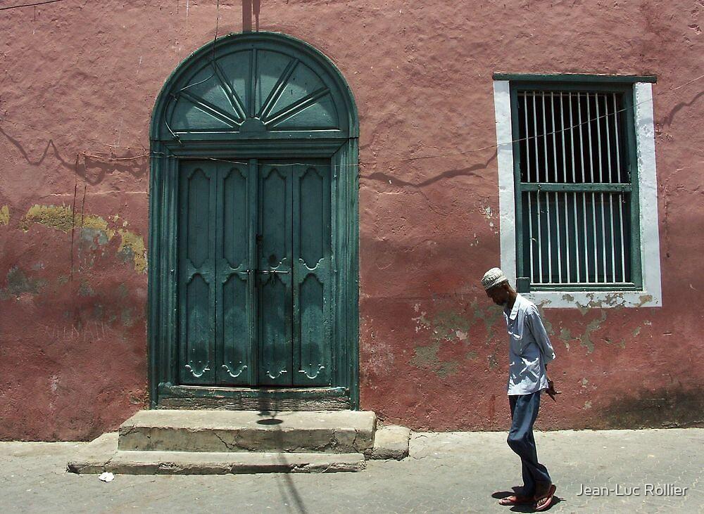 Mombasa - The green door. by Jean-Luc Rollier