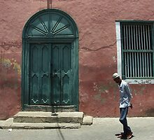 Mombasa - The green door. by Jean-Luc Rollier