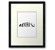 Evolution snorkeling Framed Print