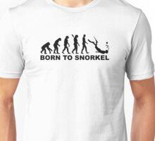 Evolution born to snorkel Unisex T-Shirt