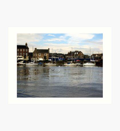 Ayr Harbour  Art Print