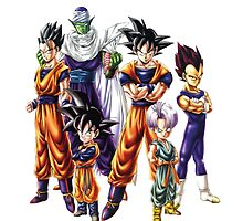 Dragonball z Characters by Green-TShirts
