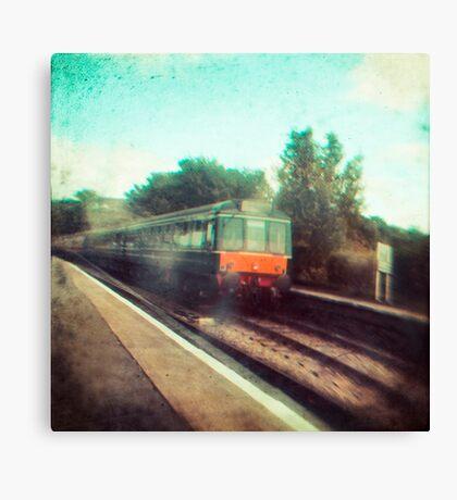 Vintage Train Canvas Print