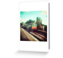 Vintage Train Greeting Card