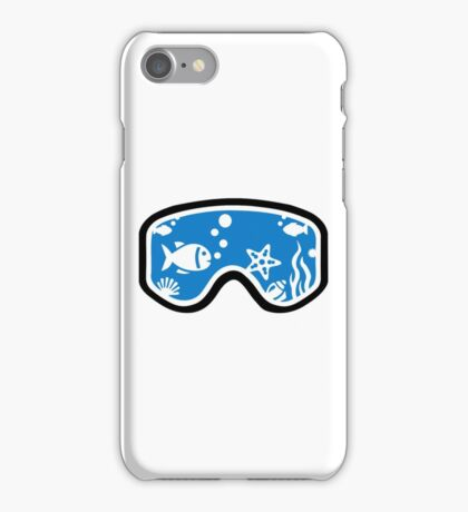 Diving goggles iPhone Case/Skin