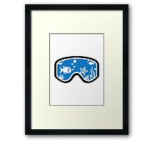 Diving goggles Framed Print