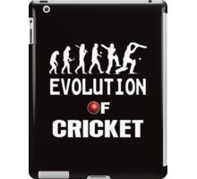 evolution of cricket  iPad Case/Skin