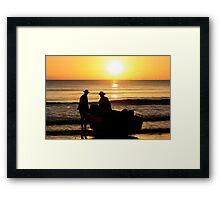 """""""Silohettes at Sunrise"""" Framed Print"""