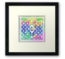 Celtic design with a colorful twist Framed Print