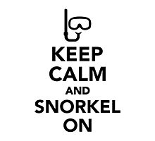 Keep calm and snorkel on Photographic Print