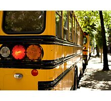 School Buses, Upper West Side, NYC Photographic Print