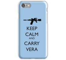 Keep Calm and Carry Vera - black text iPhone Case/Skin