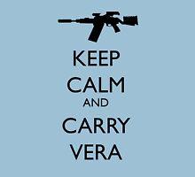 Keep Calm and Carry Vera - black text Unisex T-Shirt