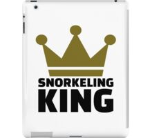 Snorkeling king iPad Case/Skin