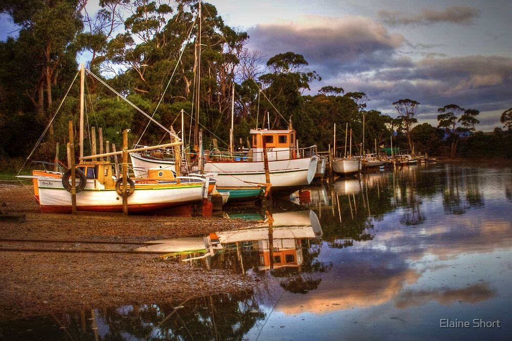 Boat Reflections by Elaine Short