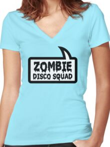 ZOMBIE DISCO SQUAD by Bubble-Tees.com Women's Fitted V-Neck T-Shirt
