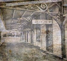 The old railway platform by julie anne  grattan