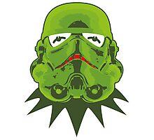 Kermitroopers stencil art Photographic Print