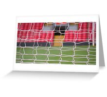 back of the net! Greeting Card