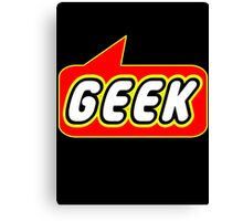Geek, Bubble-Tees.com Canvas Print