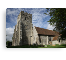 The Church With a Kink Canvas Print