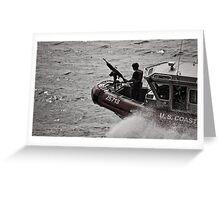 US Coast Guard, NYC Greeting Card