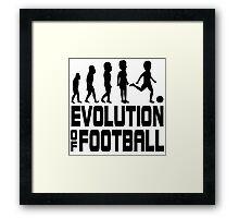 evolution of football Framed Print