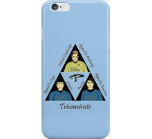 Star Trek Triumvirate - Black Text for Light shirts iPhone Case/Skin