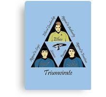 Star Trek Triumvirate - Black Text for Light shirts Canvas Print