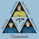 Star Trek Triumvirate - Black Text for Light shirts by reddesilets