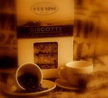 Coffee and biscotti by fotopro