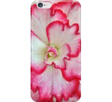 Pink and white begonia flower iPhone Case/Skin