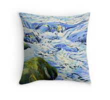 Oil study of water. Throw Pillow